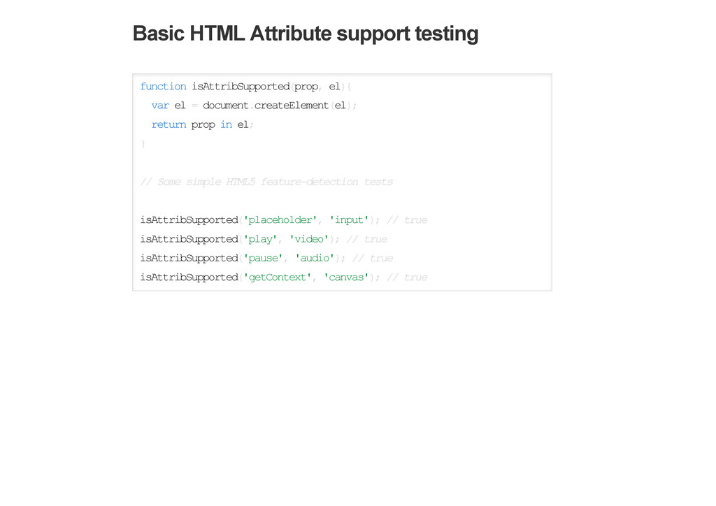 Basic HTML Attribute support testing function i...