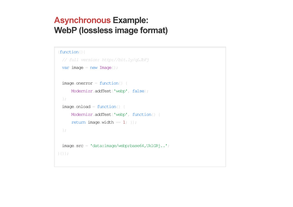 Asynchronous Example: WebP (lossless image form...