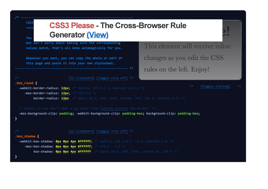 CSS3 Please - The Cross-Browser Rule Generator ...