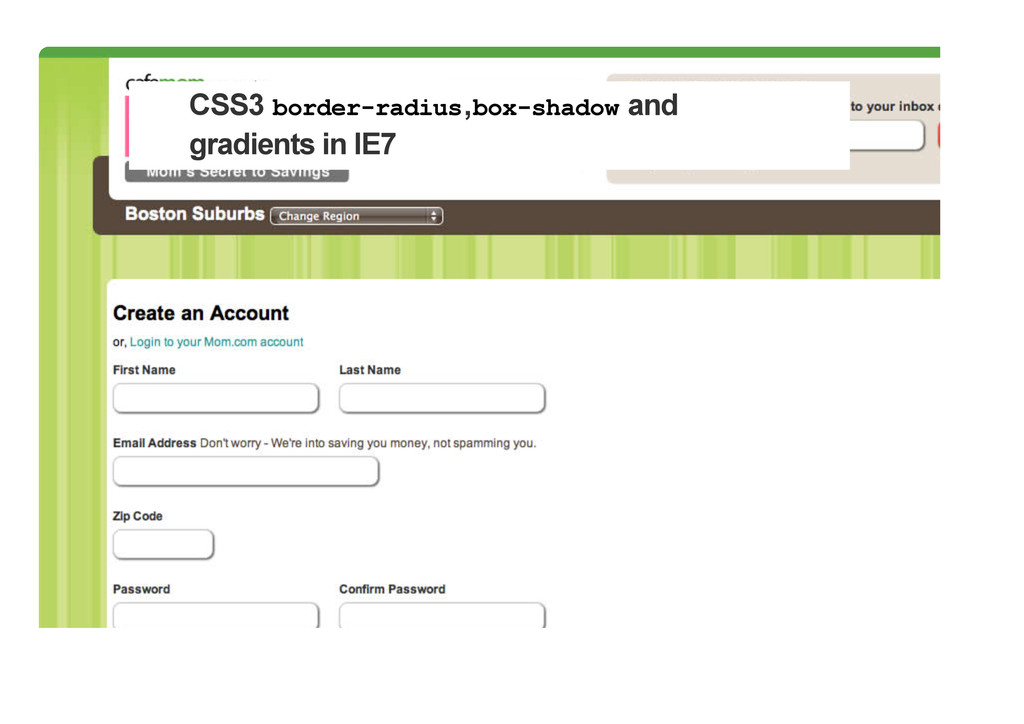 CSS3 border-radius,box-shadow and gradients in ...