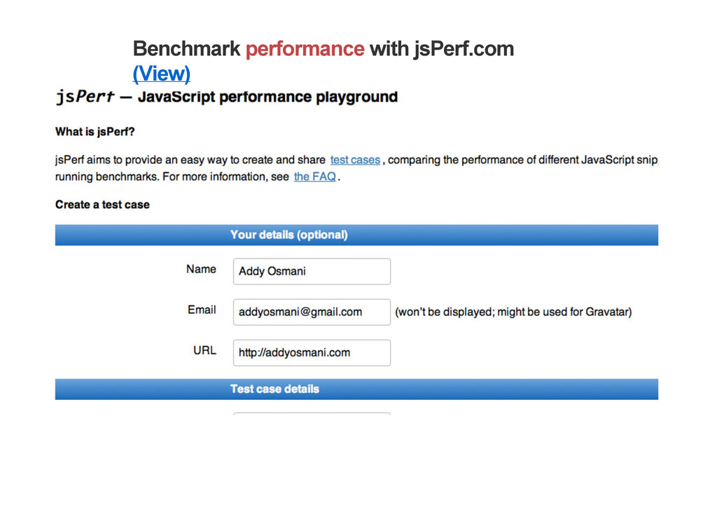 Benchmark performance with jsPerf.com (View)
