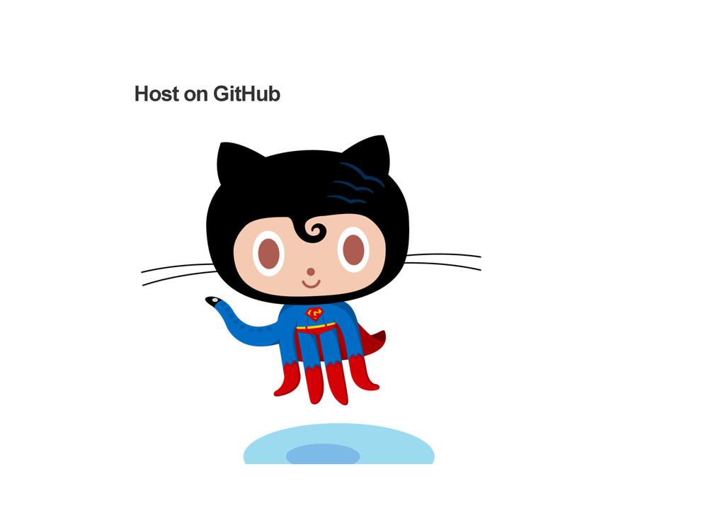Host on GitHub