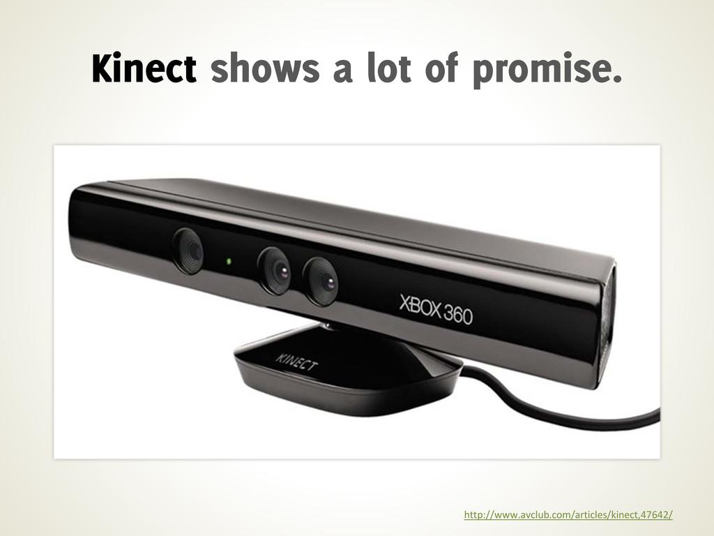 http://www.avclub.com/articles/kinect,47642/ Ki...