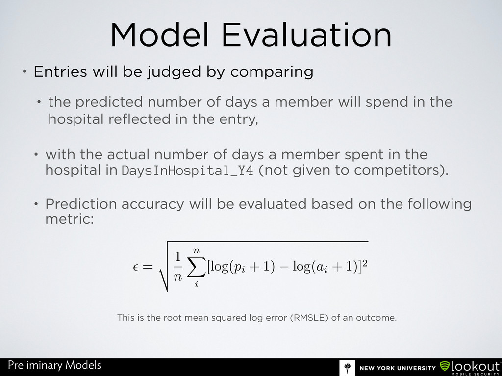 Model Evaluation • Entries will be judged by co...