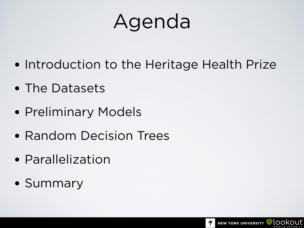 Agenda • Introduction to the Heritage Health Pr...