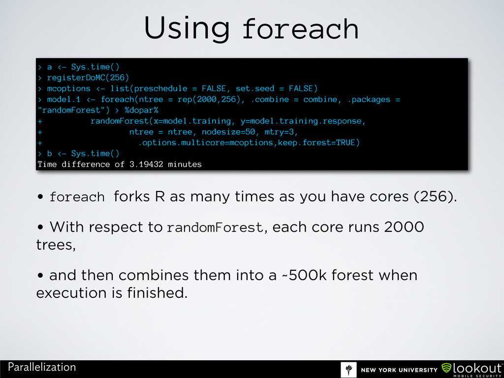 Using foreach • foreach forks R as many times a...