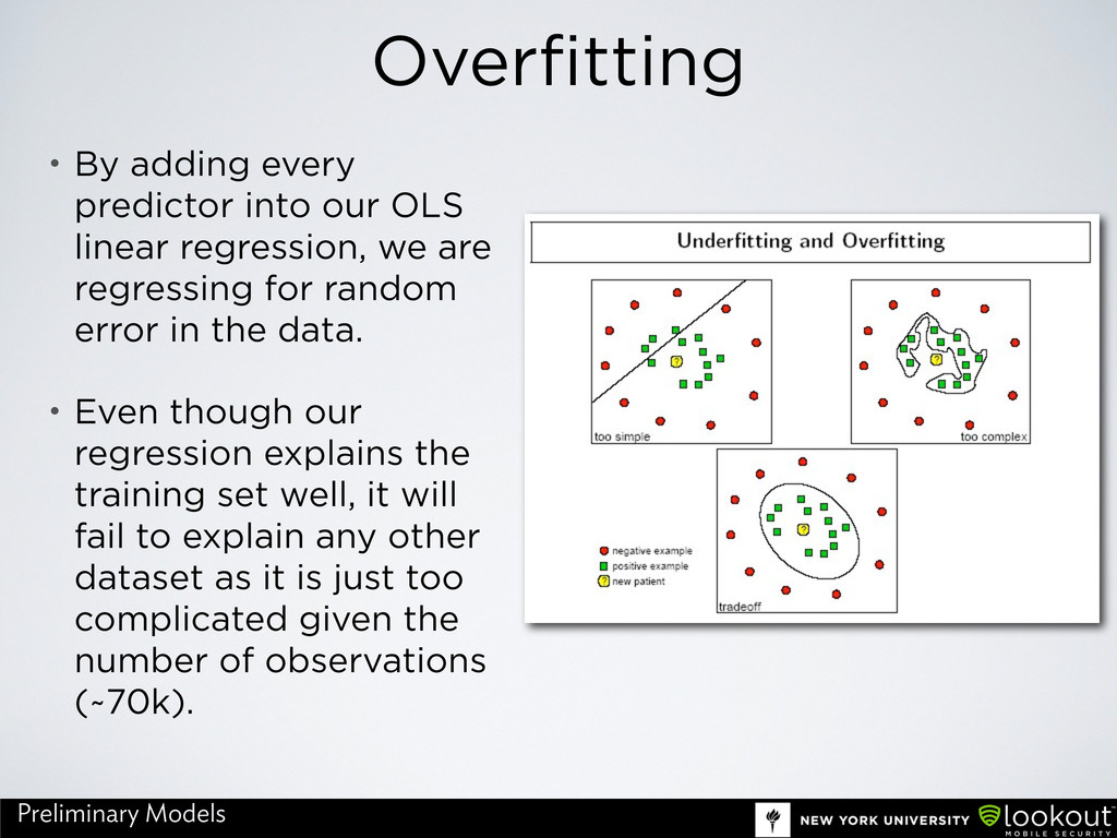 Overfitting • By adding every predictor into ou...