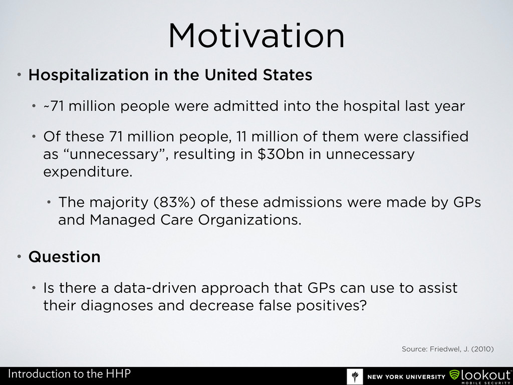 Motivation • Hospitalization in the United Stat...