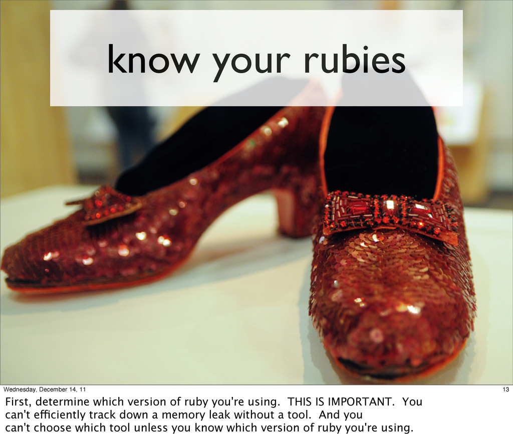 know your rubies 13 Wednesday, December 14, 11 ...