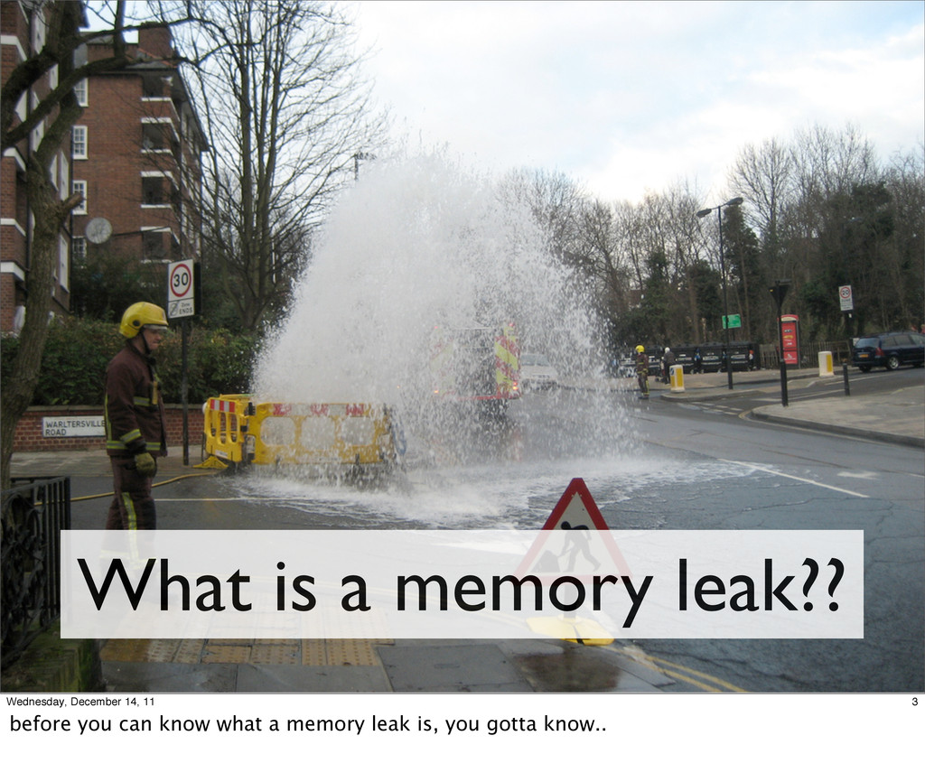 What is a memory leak?? 3 Wednesday, December 1...