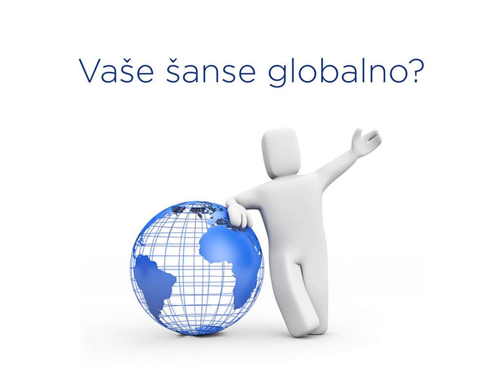 Vaše šanse globalno?
