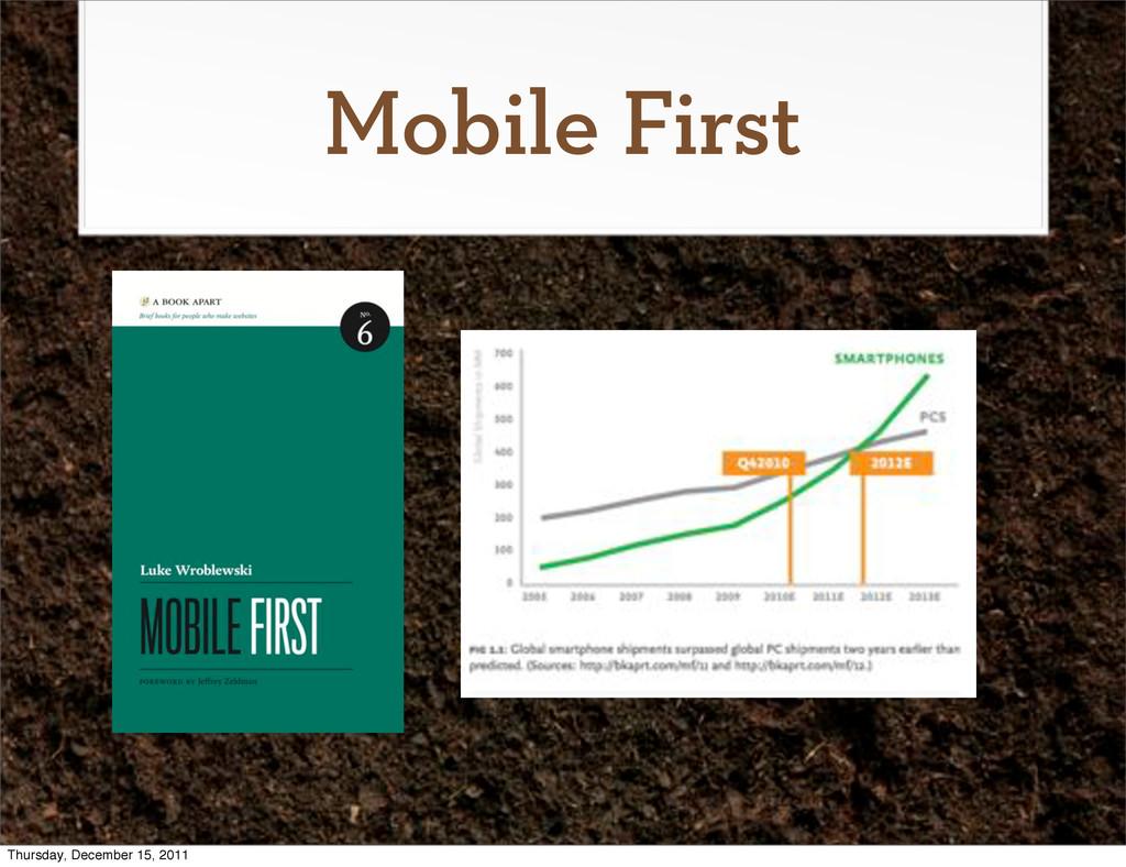 Mobile First Thursday, December 15, 2011