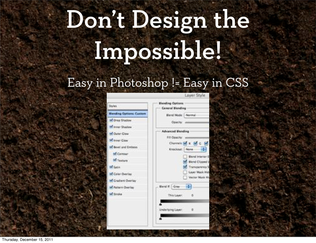 Don't Design the Impossible! Easy in Photoshop ...