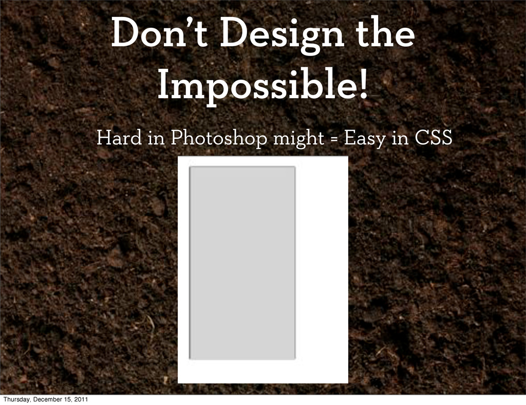 Don't Design the Impossible! Hard in Photoshop ...