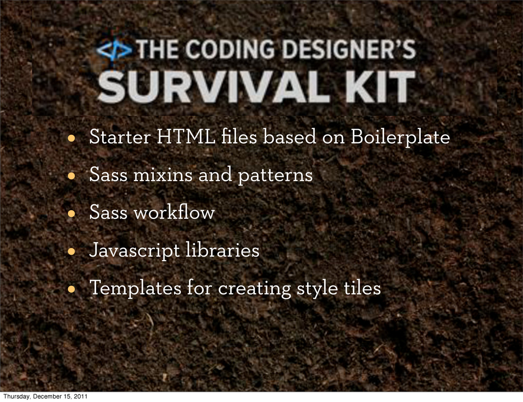 The Coding Designer's Survival Kit • Starter HT...