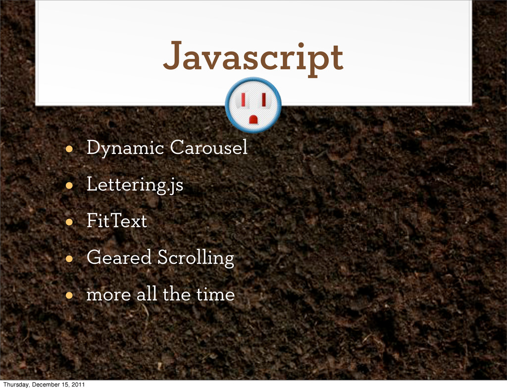 Javascript • Dynamic Carousel • Lettering.js • ...