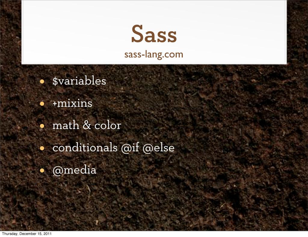 Sass • $variables • +mixins • math & color • co...