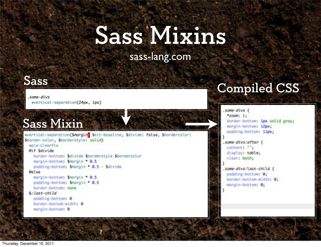Sass Mixins sass-lang.com Sass Mixin Compiled C...