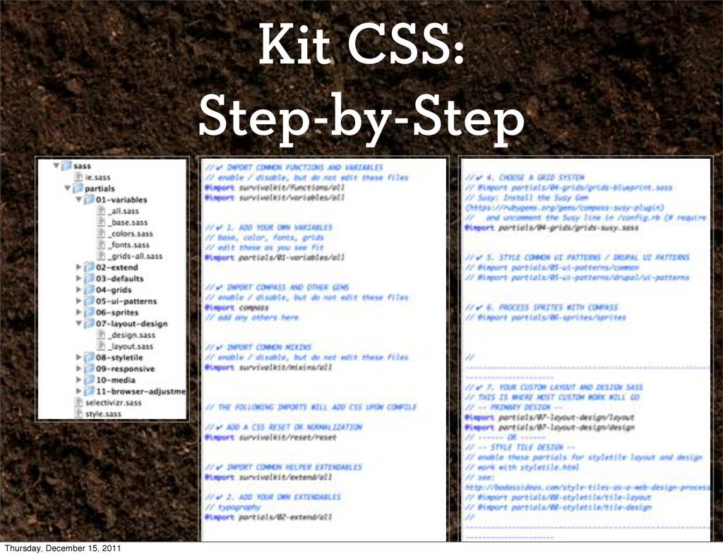 Kit CSS: Step-by-Step Thursday, December 15, 20...