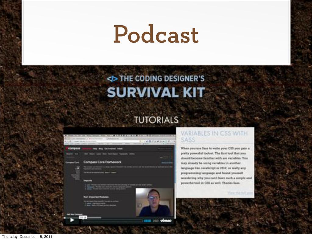 Podcast Thursday, December 15, 2011