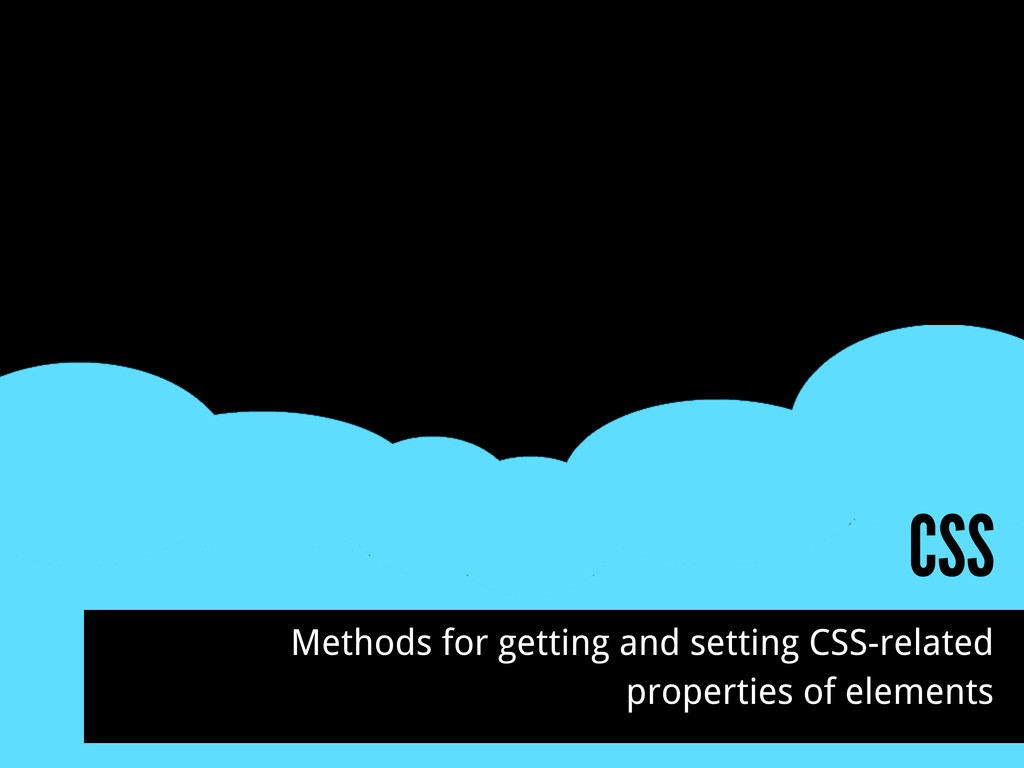 CSS Methods for getting and setting CSS-related...