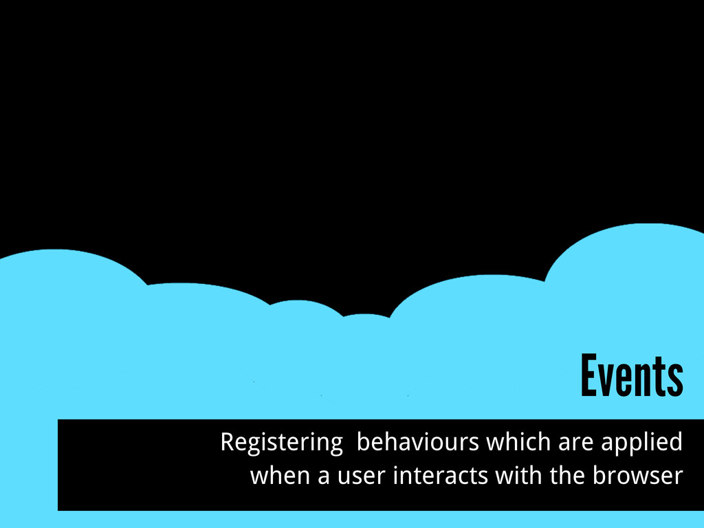 Events Registering behaviours which are applied...