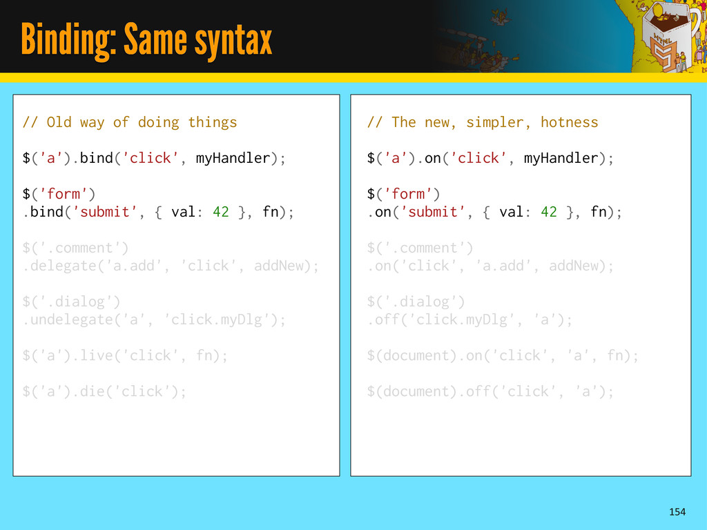 Binding: Same syntax 154 // Old way of doing th...