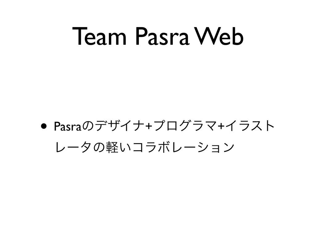 Team Pasra Web • PasraͷσβΠφ+ϓϩάϥϚ+Πϥετ Ϩʔλͷ͍ܰίϥ...