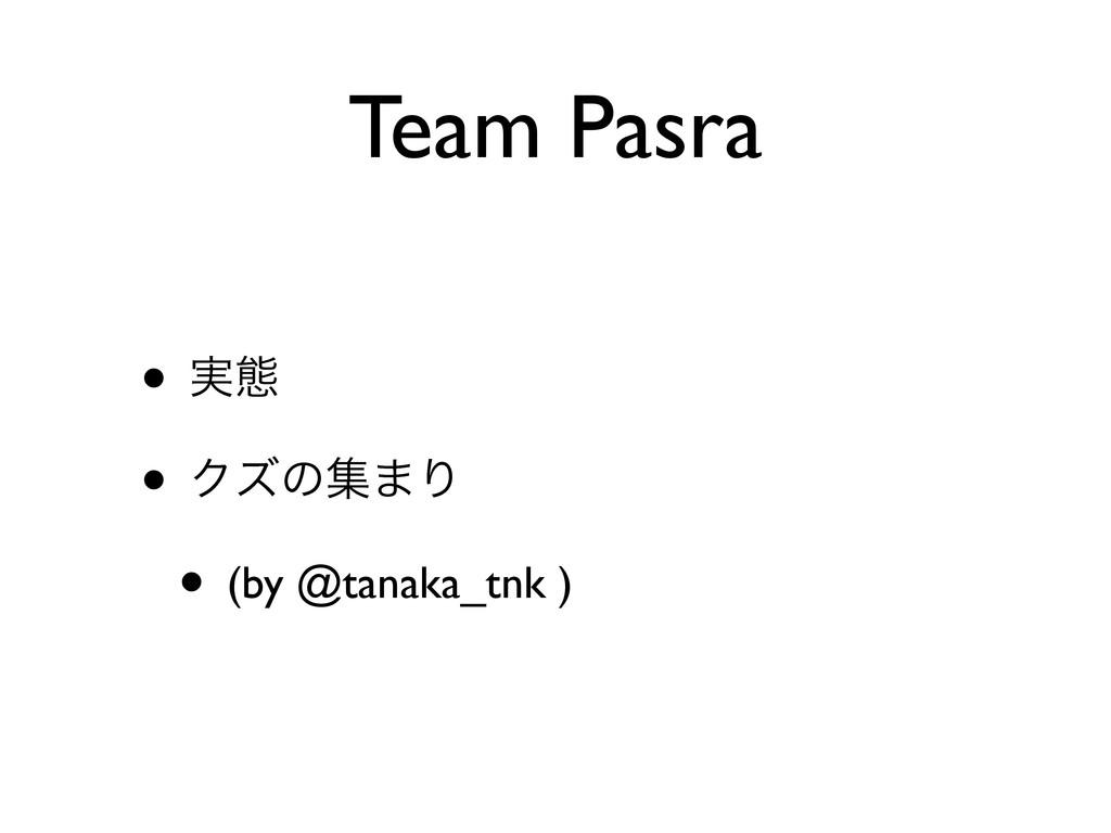 Team Pasra • ࣮ଶ • Ϋζͷू·Γ • (by @tanaka_tnk )
