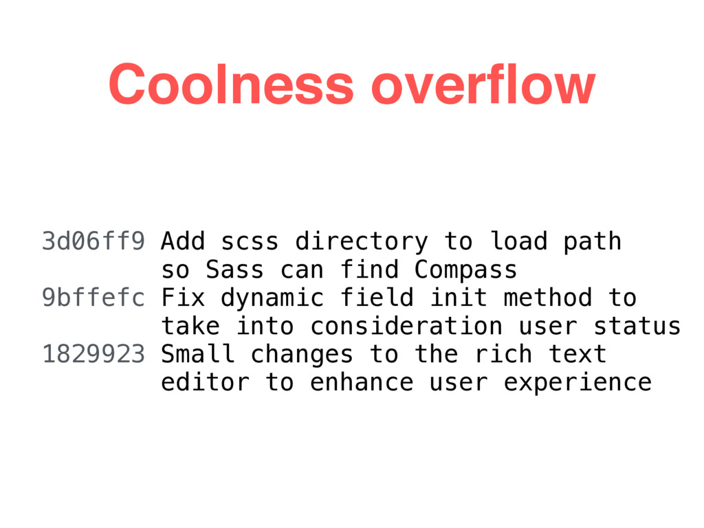 Coolness overflow 3d06ff9 Add scss directory to ...