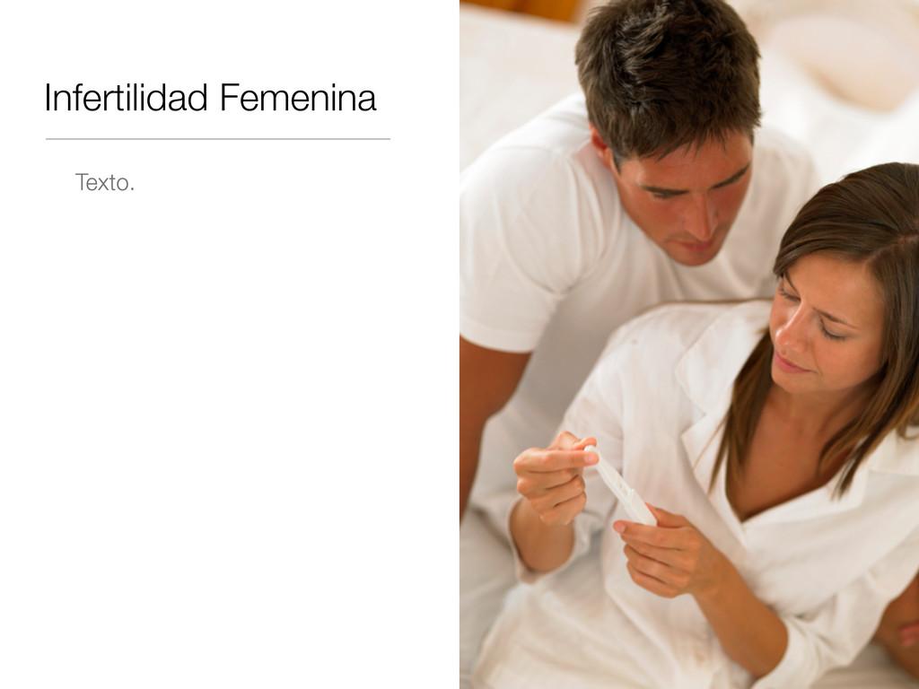 Infertilidad Femenina Texto.