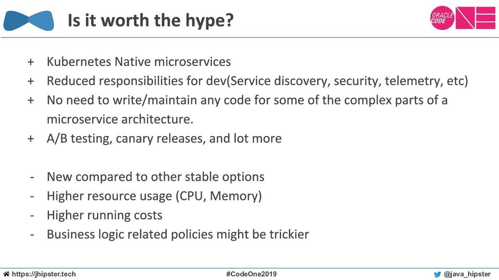 https://jhipster.tech #CodeOne2019 @java_hipster
