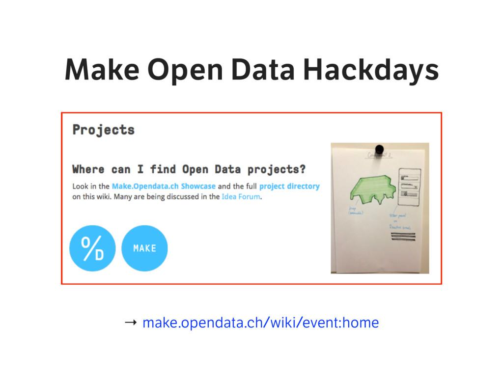 Make Open Data Hackdays → make.opendata.ch/wiki...