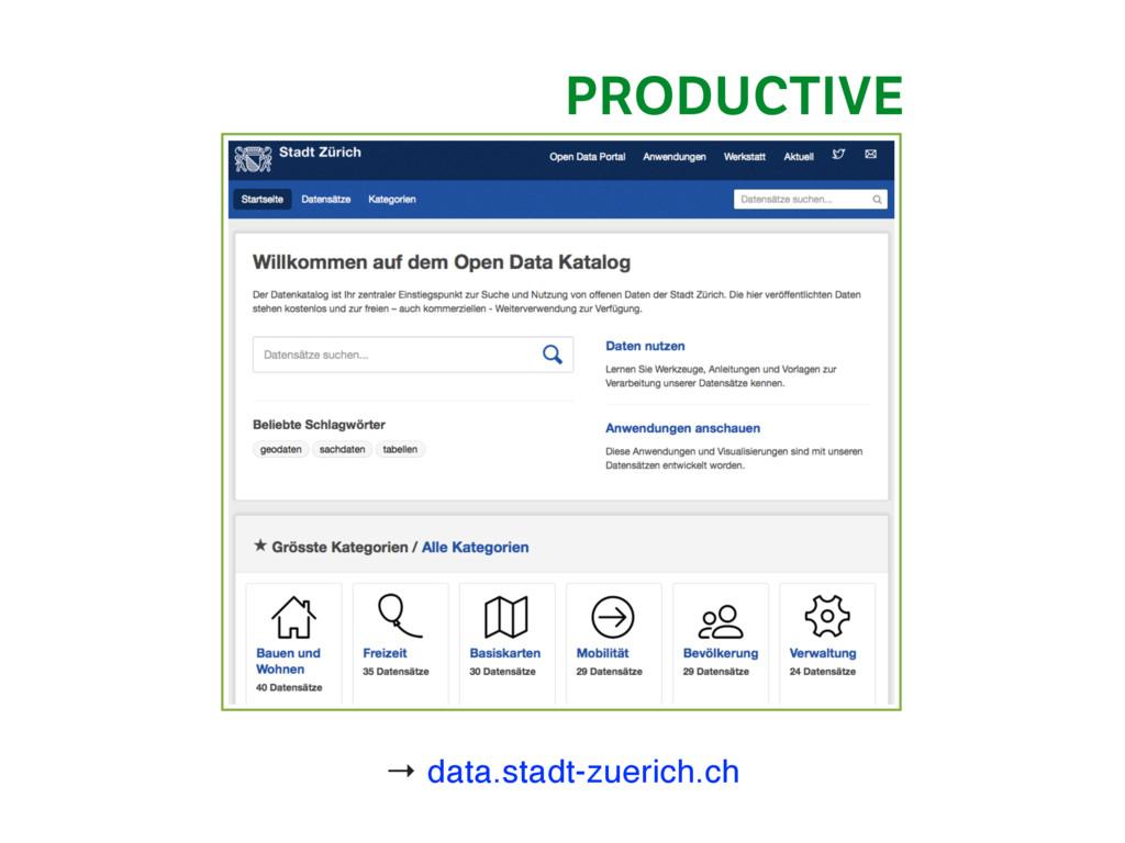 → data.stadt-zuerich.ch PRODUCTIVE