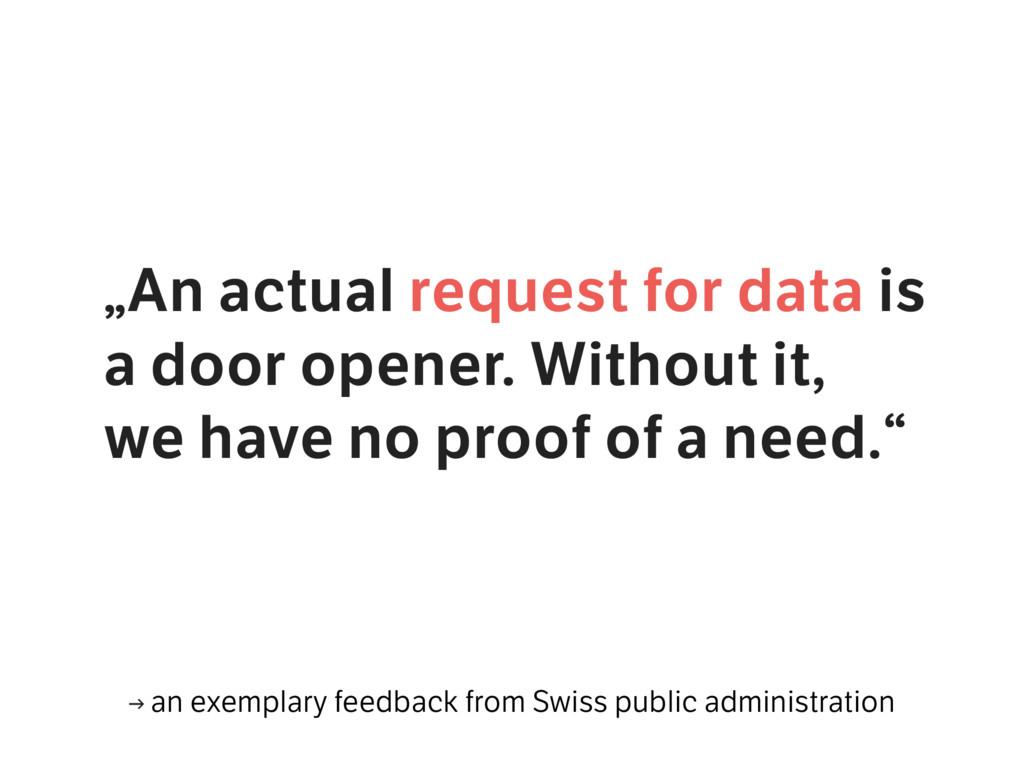 """An actual request for data is a door opener. W..."