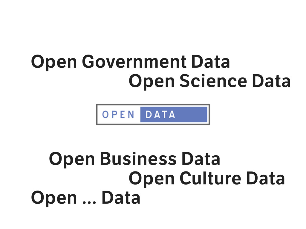 Open Government Data Open Science Data Open Bus...