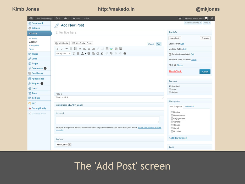 The 'Add Post' screen Kimb Jones http://makedo....