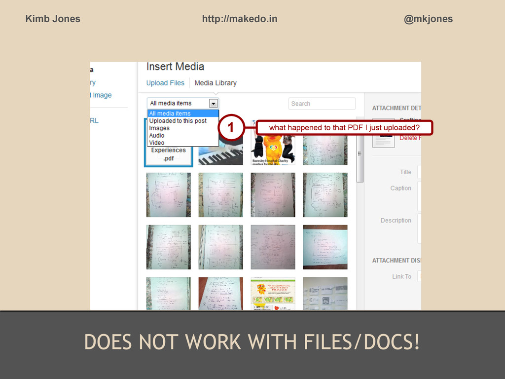 DOES NOT WORK WITH FILES/DOCS! Kimb Jones http:...