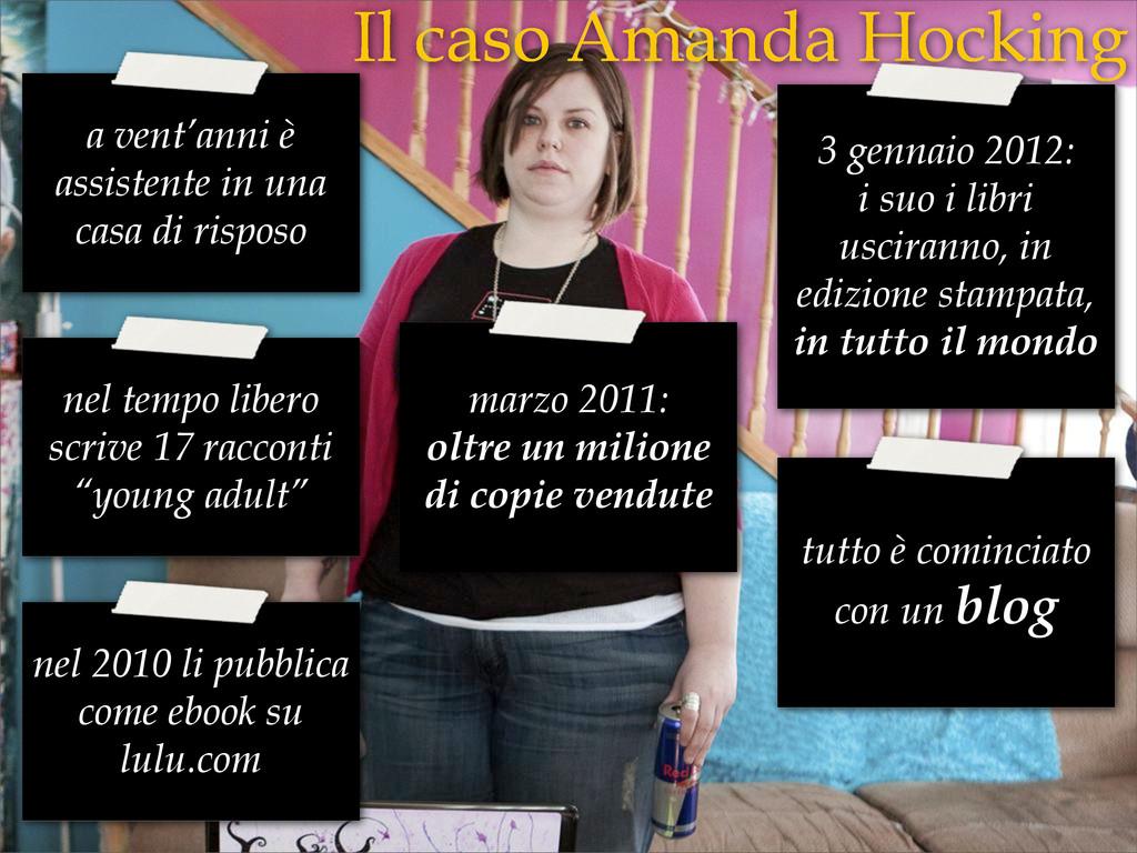 Il caso Amanda Hocking a vent'anni è assistente...