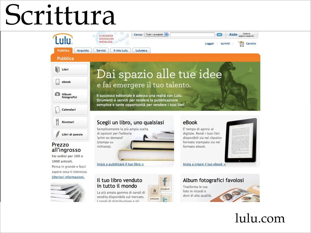 Scrittura lulu.com