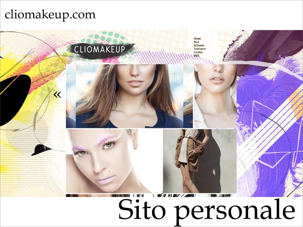 Sito personale cliomakeup.com