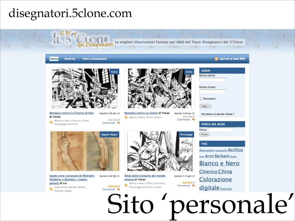 Sito 'personale' disegnatori.5clone.com