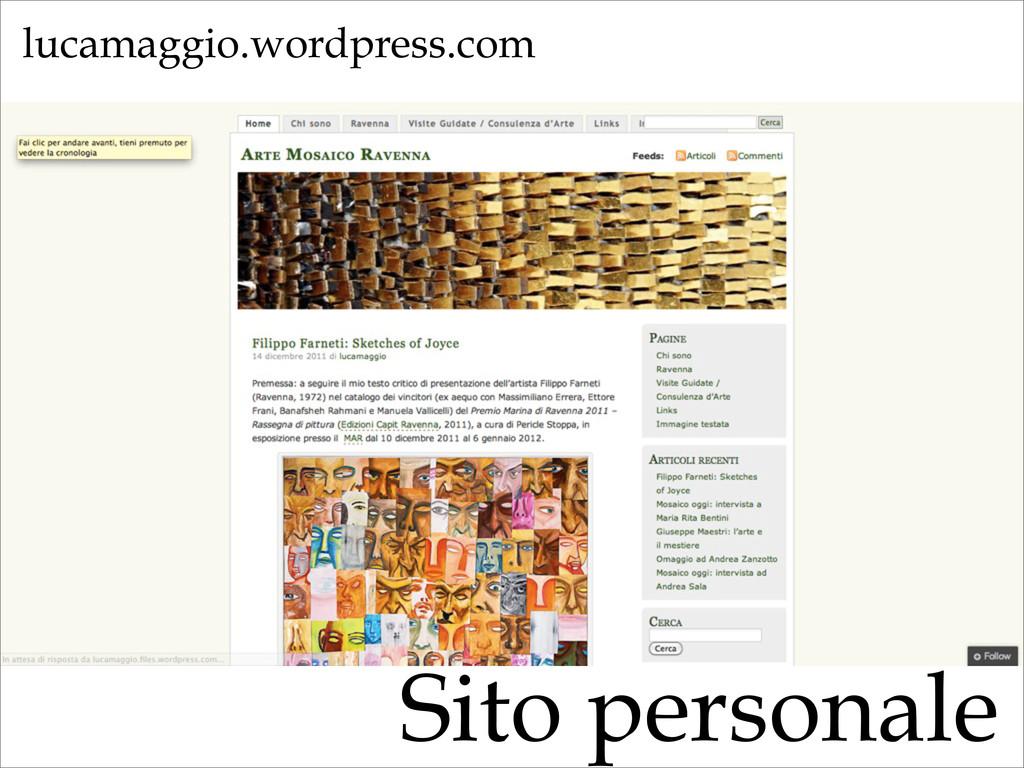 Sito personale lucamaggio.wordpress.com