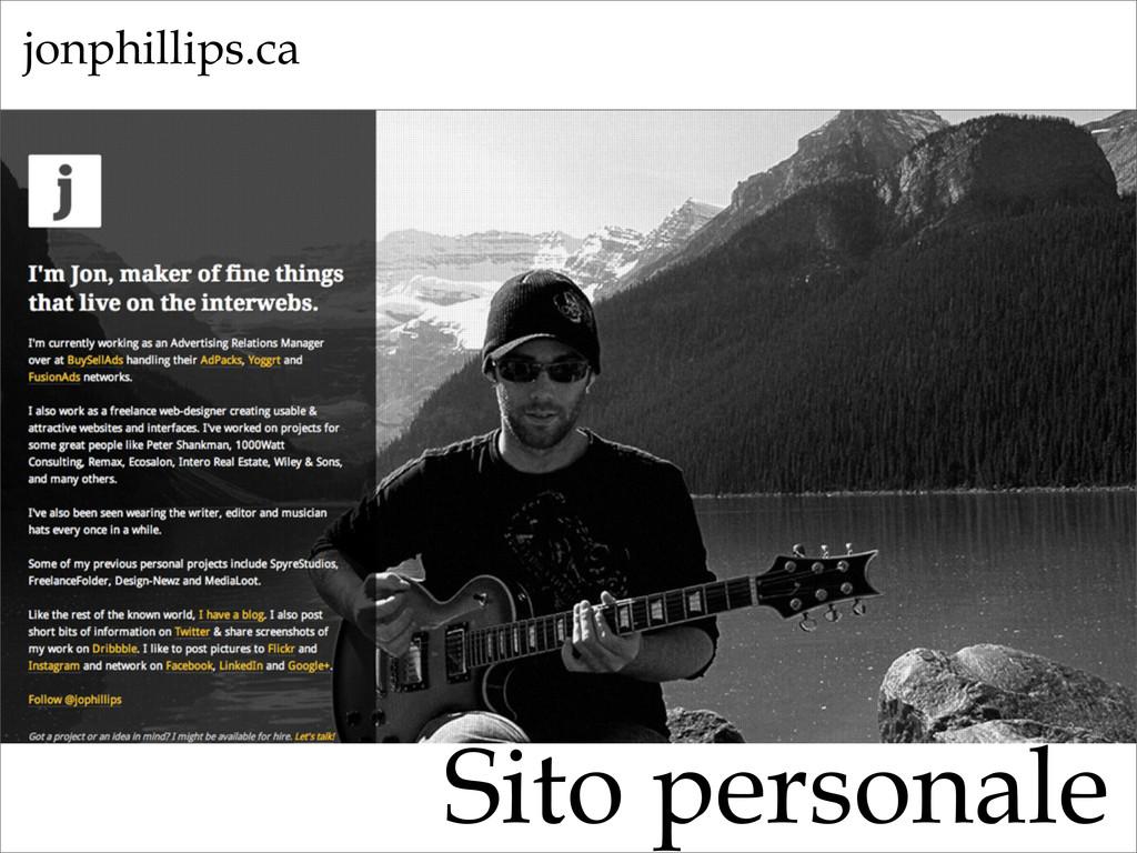 Sito personale jonphillips.ca