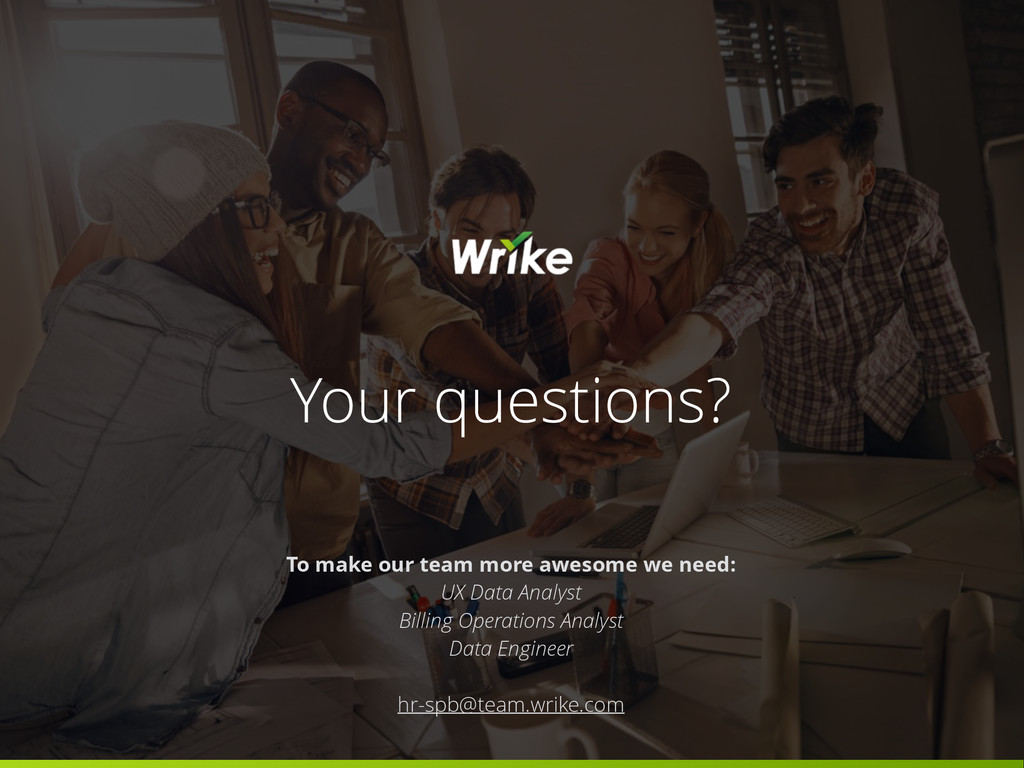Your questions? To make our team more awesome w...