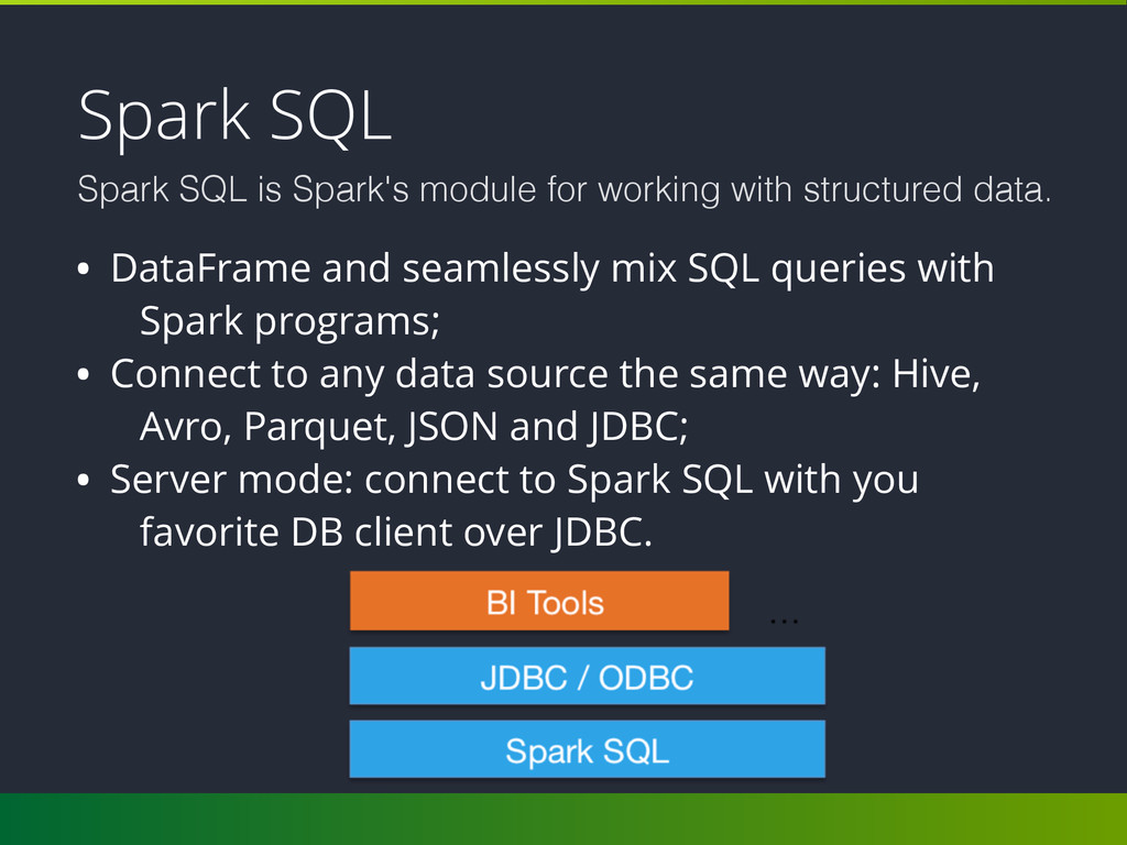 Spark SQL Spark SQL is Spark's module for worki...
