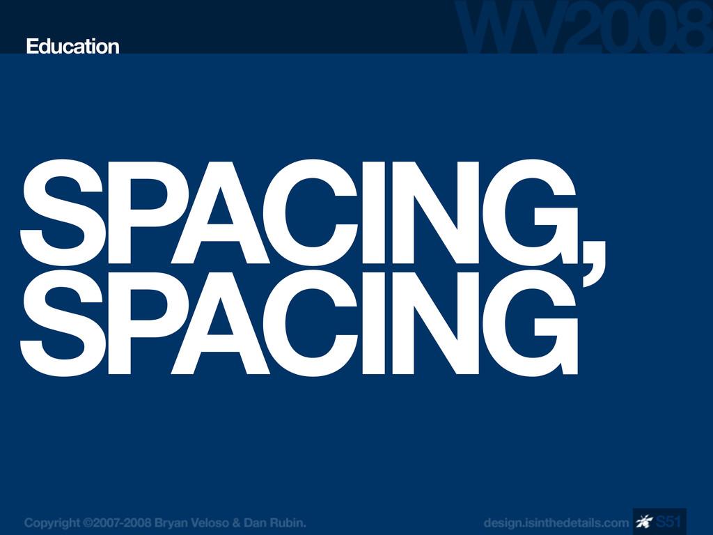 SPACING, SPACING Education S51