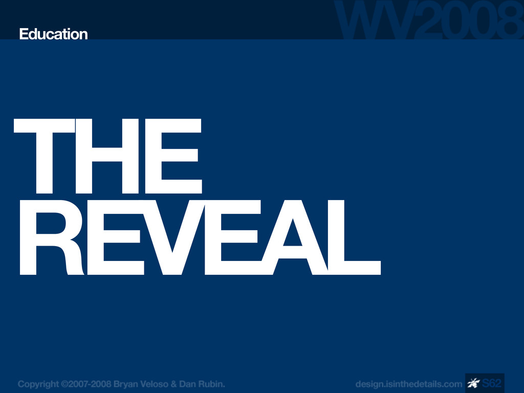 THE REVEAL Education S62