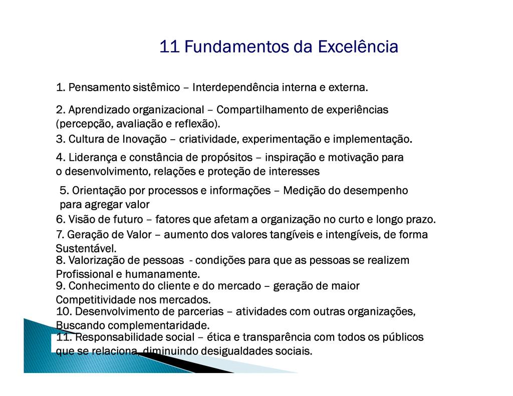 11 Fundamentos da Excelência 11 Fundamentos da ...