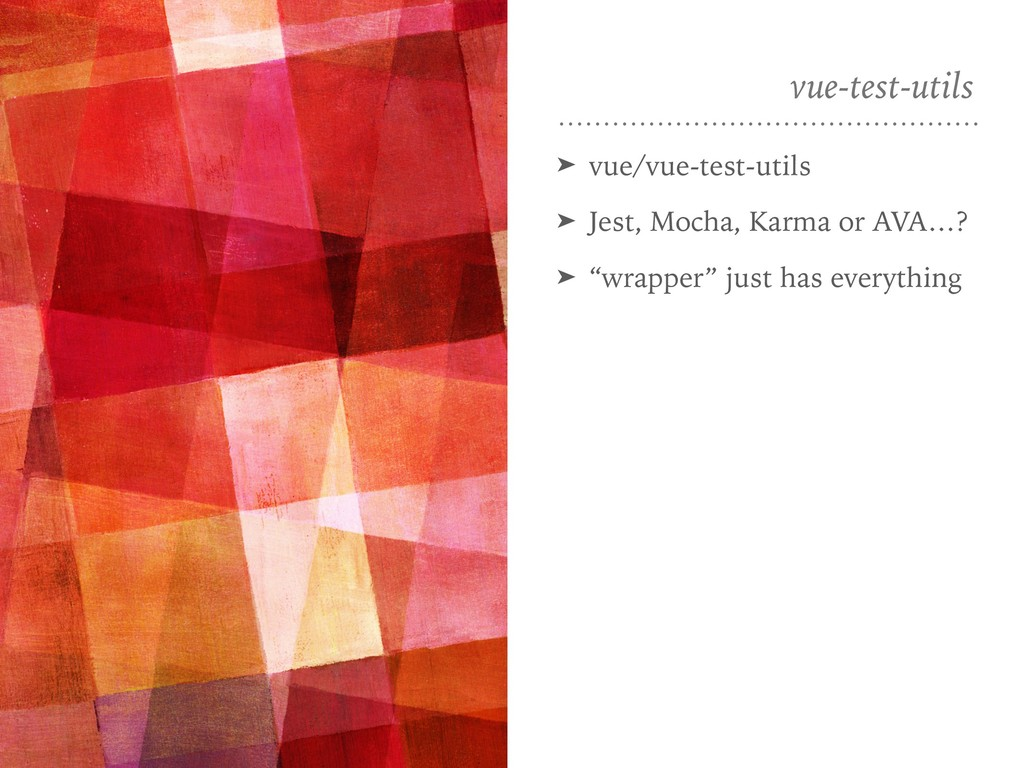 vue-test-utils ➤ vue/vue-test-utils ➤ Jest, Moc...